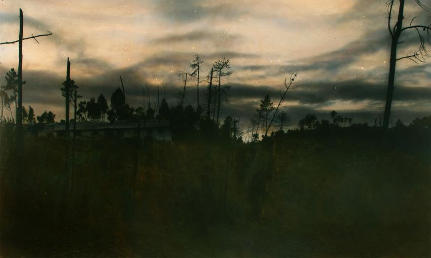 Nachtstück Bairrada (Algarinho), 2015, 85 x 141 cm, s-w-Barytpapier koloriert, Edition 2