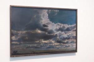 """Nachtstück Galicien I, 1999, 62 x 92 cm, s-w-Barytpapier koloriert, Edition 2 (Ausstellung """"Here comes the night"""")"""