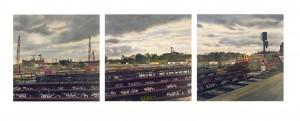Spreebogen (Berlin), 1997, 2 x 97 x 97 cm, s-w-Barytpapier koloriert, Edition 3