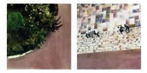 Treppe Cité St. Pierre (Marseille), 1991, 2 x 50 x 52 cm, s-w-Barytpapier koloriert, Edition 2