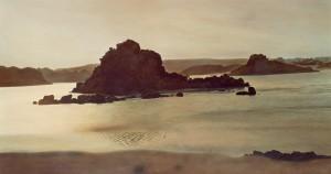 Inseln im Nil, 1986/2000, 100 x 196 cm, s-w-Barytpapier koloriert, Edition 2