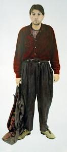 Uwe, 2000, 208 x 105 cm, s-w-Barytpapier koloriert, Edition 2