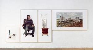 Ana Luisa / Chelas (Lissabon), 2007, 87 x 82 cm, 184 x 100 cm, 184 x 78 cm, 117 x 199 cm, s/w-Barytpapier koloriert, Edition 2