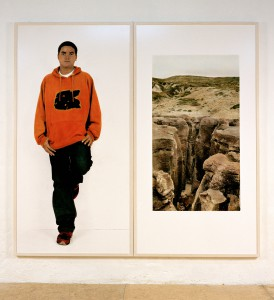 Pedro / Foz do Lizandro, 2004, 206 x 215 cm, s/w-Barytpapier koloriert, Edition 2
