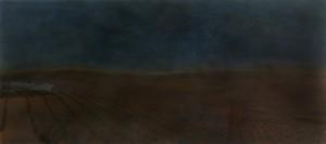Nachtstück Andalusien, 2015, 70 x 158 cm, s-w-Barytpapier koloriert, Edition 2