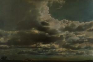 Nachtstück Galicien Nr.2, 1999, 62,5 x 92 cm, s-w-Barytpapier koloriert, Edition 2