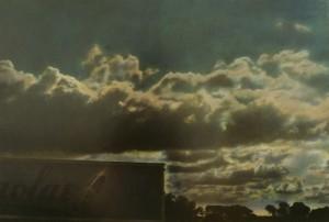 Nachtstück Galicien Nr.4, 1999, 62,5 x 92 cm, s-w-Barytpapier koloriert, Edition 2