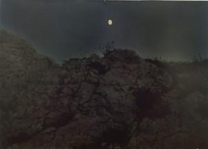 Nachtstück Ile de Frioul, 1999, 42 x 58 cm, s-w-Barytpapier koloriert, Edition 2