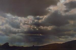 Nachtstück Galicien Nr.3, 1999, 62,5 x 92 cm, s-w-Barytpapier koloriert, Edition 2