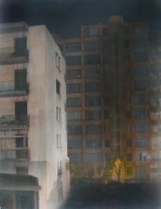 Nachtstück Rue des Abeilles (Marseille) I, 2015, 89 x 68 cm, s-w-Barytpapier koloriert, Edition 2