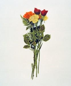 Blumenstrauß Nr.8, 1992-2001, 58 x 49 cm, s-w-Barytpapier koloriert, Edition 2
