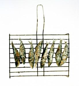 Acht vergessene Sardinen, 2003, 54 x 54 cm, Edition 2