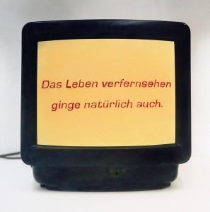 Das Leben verfernsehen, 2007, 43 x 42,5 cm, s-w-Barytpapier koloriert, Edition 2
