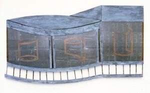 Hirschhagen (Center I), 1987, ca. 80 x 150 cm, Metall, Acrylglas, s-w-Barytpapier