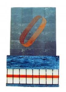 Hirschhagen I (Turm), 1987, 120 x 80 cm, Metall, Acrylglas, s-w-Barytpapier