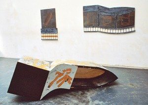 Installationsansicht Aula Städelschule, 1987