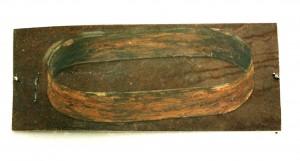 Hirschhagen, Skizze, 1987, ca. 30 x 70 cm, Karton, Farbe, Metall, Acrylglas