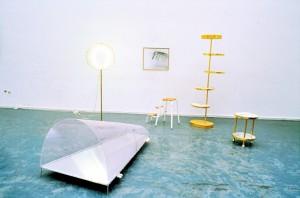 Pilat Plage, Installationsansicht Aula Städelschule Frankfurt, 1988