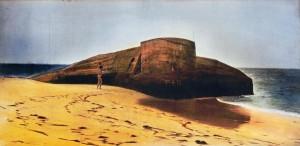 Pilat Plage, ca.1992, ca. 40 x 90 cm, s-w-Barytpapier koloriert