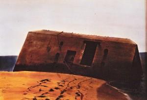 Pilat Plage, ca.1992, ca. 40 x 60 cm, s-w-Barytpapier koloriert