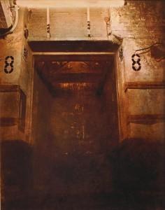 Aufzug Nr. 8, Bahnpost Frankfurt, ca. 1988, 50 x 60 cm, s-w-Barytpapier koloriert