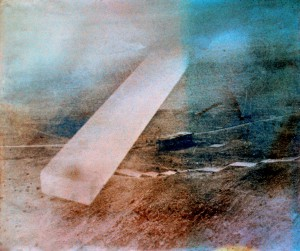 Tell el Amarna IV, ca. 1989, ca. 100 x 130 cm, s-w-Barytpapier koloriert u. getont