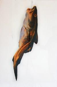Dorsch II, ca. 1991, ca. 130 x 100 cm, s-w-Barytpapier koloriert