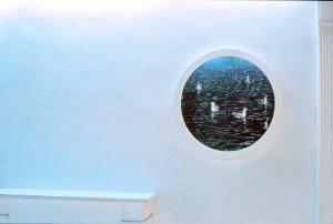 "O.T., 1990, ca. 2 x 90 x 90 cm, s-w-Barytpapier koloriert Ausstellung ""Galerie Calibre 33"", Nizza, 1991"