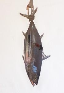 Thunfisch, ca. 1991, ca. 140 x 100 cm, s-w-Barytpapier koloriert