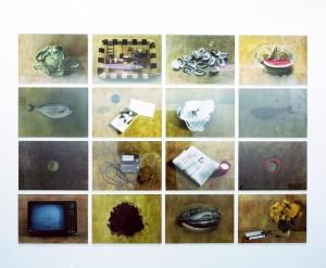 """Chatwin (Antwort und Frage), 1997, 16 tlg., insgesamt 178 x 244 cm, s/w-Barytpapier koloriert, Edition 2+I"""""""