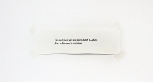 So murksten wir uns ... , 2007, 18,5 x 37 cm, s/w-Barytpapier koloriert, Edition 2