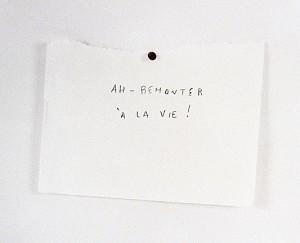 Remonter à la vie (Rimbaud), 2007, 25,5 x 30 cm, s/w-Barytpapier koloriert, Edition 2