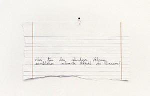 Ständige Absenz, 2007, 22 x 32 cm, s/w-Barytpapier koloriert, Edition 2
